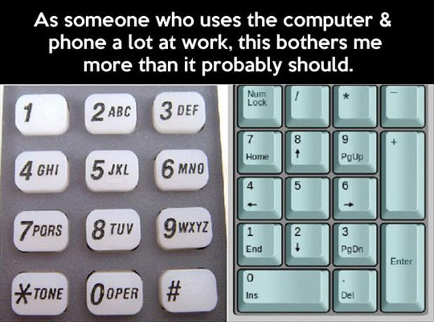 Different keypads
