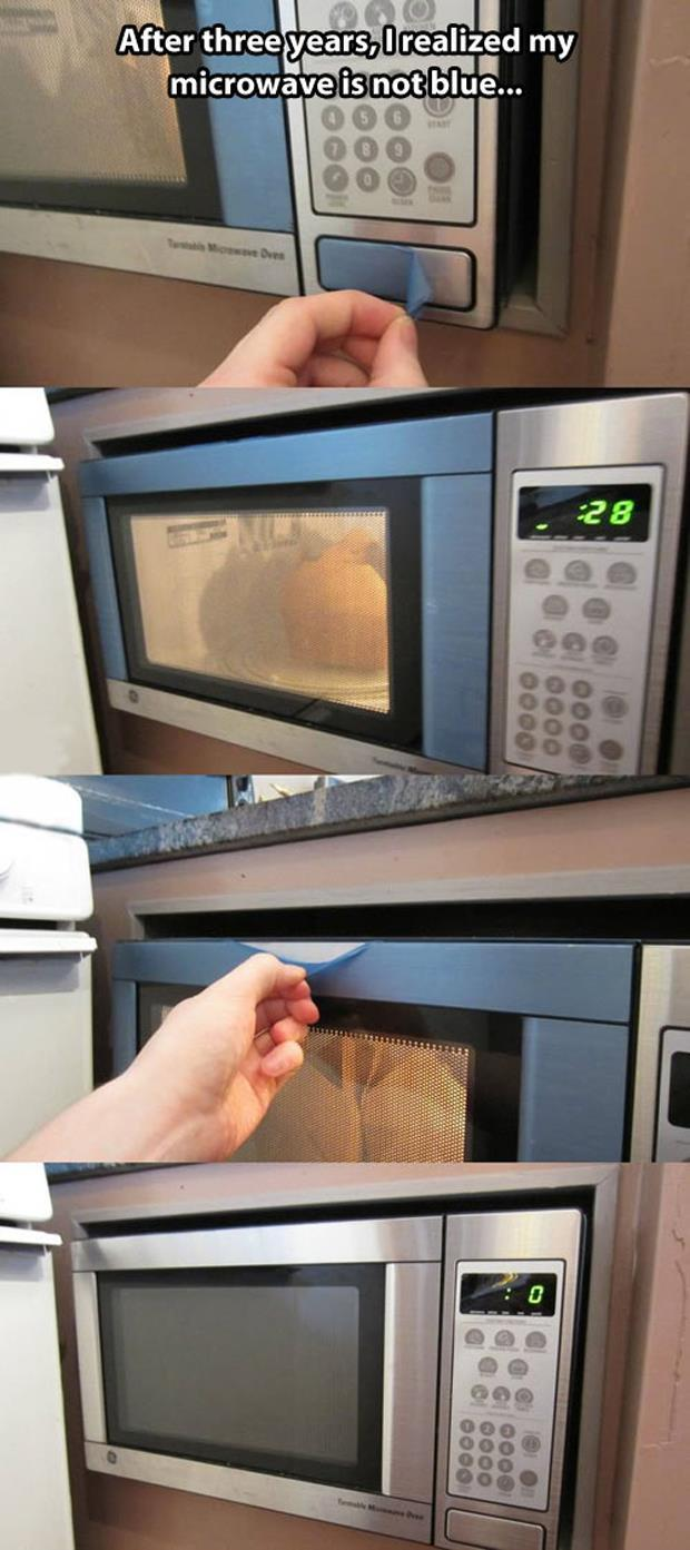 Microwave is not blue