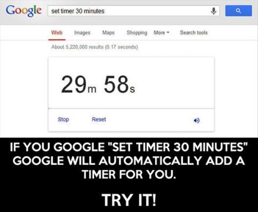 set timer for one minute