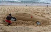 Awesome sand art