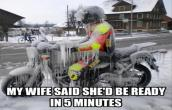 She would be ready in 5 Mins