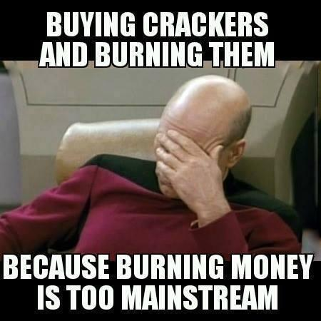 Burning Crackers