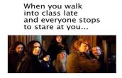 late night entrance in class