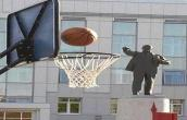 Statue playing Basket Ball
