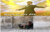 week of pay day,.......rest of the month