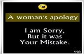 womans apology
