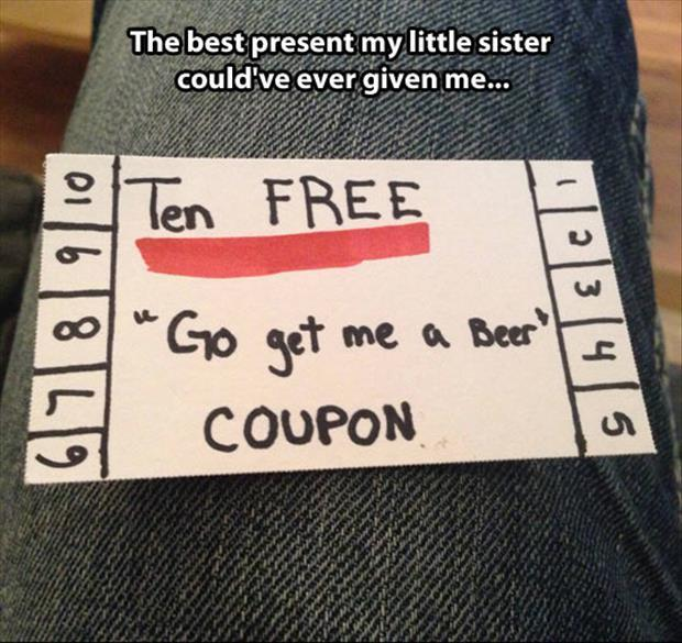Beer me coupon