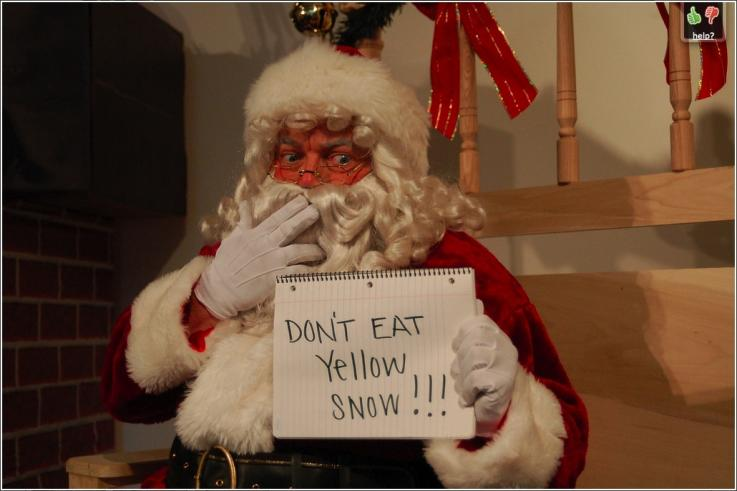 Dont eat Yellow Snow