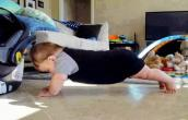 Baby in workout