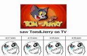 Saw tom and jerry on TV