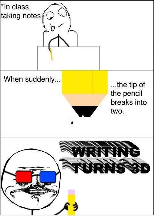 Writing Turns 3D